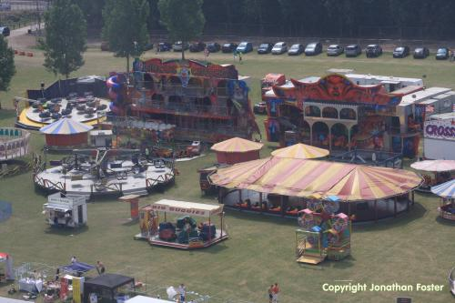 Waltham Abbey Town Show aerial view by Jonathan Foster
