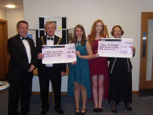 Neston High School presented cheques at the Mayor's Ball