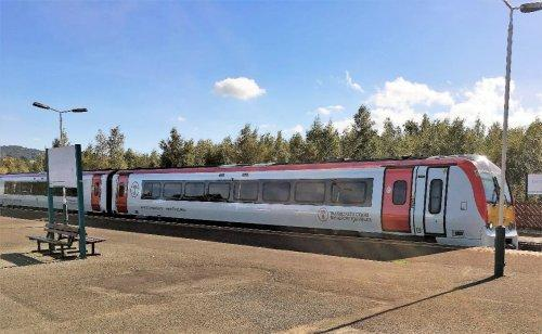 The new look trains in the colours that will be seen in Neston. (Picture by: Phil Lloyd)