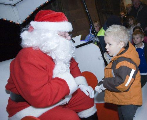 Santa at Neston Parish Church 007