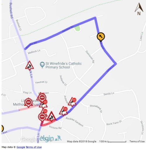 Road closure - The Green, Little Neston