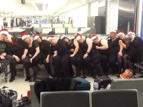 Neston singers fly high with Virgin Atlantic Little Red