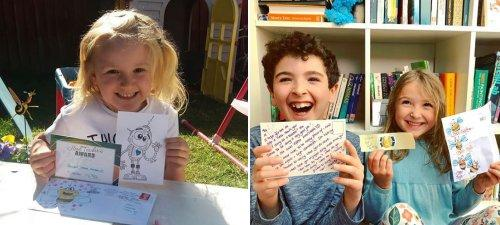 Neston Head Teacher Uses Snail Mail to Keep in Touch