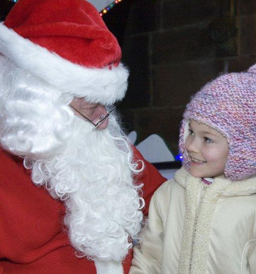 Santa at Neston Parish Church 004
