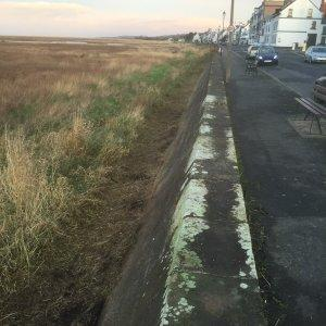 The sea wall at Parkgate is being cleared and repaired