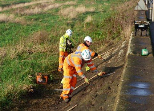 Parkgate sea wall work continues