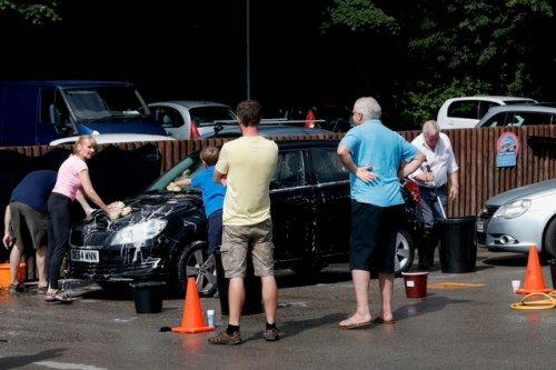 Neston Rotakids Car Wash for charity