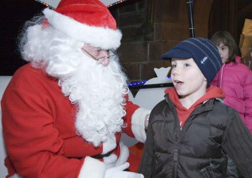 Santa at Neston Parish Church 015