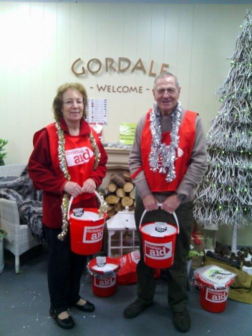 Christian Aid collectors at Gordale