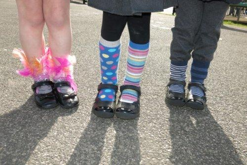 Neston Pupils pull their socks up for charity