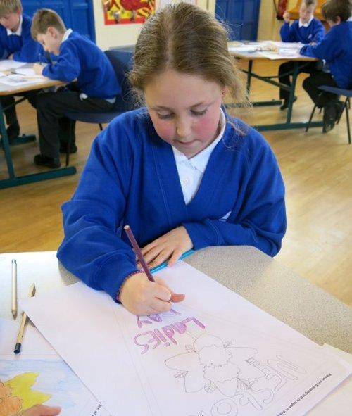 Workshops got underway to create the designs for Neston's bespoke Ladies Club Day bunting.