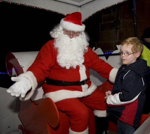 Santa at Neston Parish Church 022