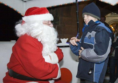 Santa at Neston Parish Church 017