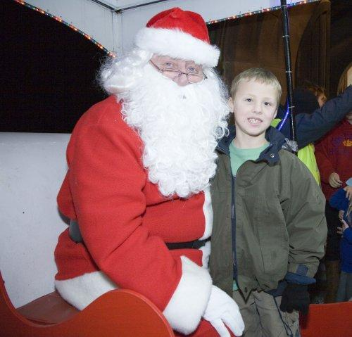 Santa at Neston Parish Church 005