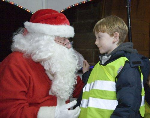 Santa at Neston Parish Church 002