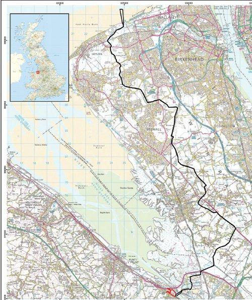 Wirral HVDC Cable Route - Map