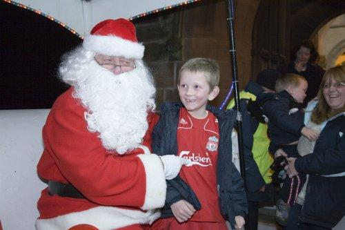 Santa at Neston Parish Church 019