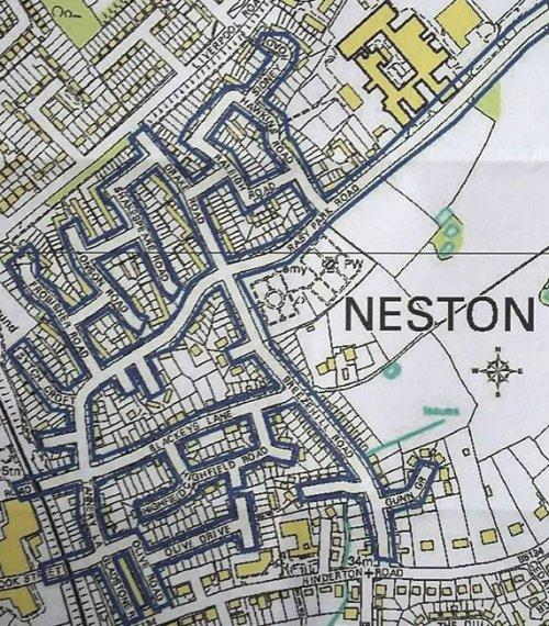Neston East 20mph map