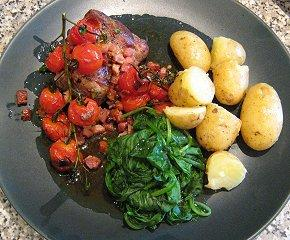 Pork with tomatoes