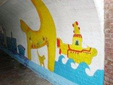 Mural in the underpass at Neston Railway Station