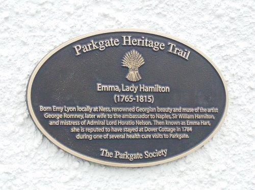 Plaque commemorating Emma, Lady Hamilton
