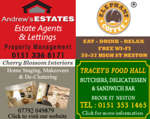 Sidebar advertisements on AboutMyArea Neston