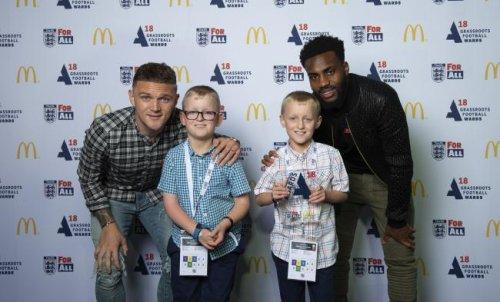 Will and James Bather with Kieran Trippier and Danny Rose