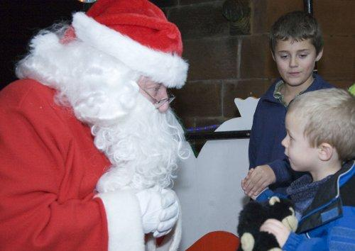 Santa at Neston Parish Church 001