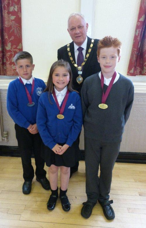 Neston's first Junior Mayor and Deputies