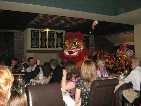 Lion Dance at Mr Chow's
