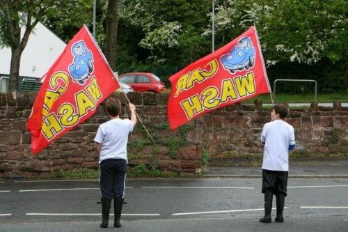 Neston Rotakids' charity car wash