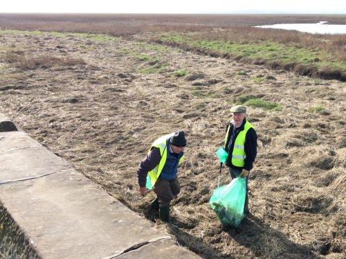 Volunteers taking part in the Parkgate litter pick in February.