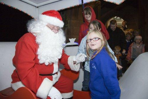 Santa at Neston Parish Church 010