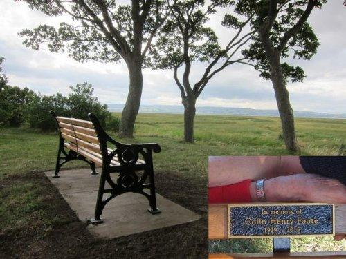 Bench in Parkgate, remembering Colin Foote