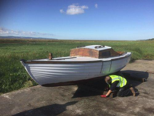 A boat has been installed on the middle slip on Parkgate front