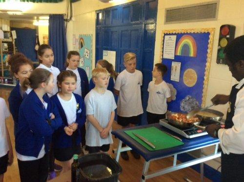 Neston Primary School hosts a visit by the Royal Navy