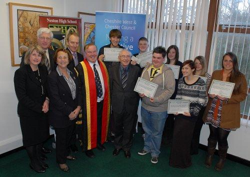 Neston High students received grants from the Fred Venables Trust