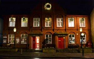 Neston Town Hall at Christmas